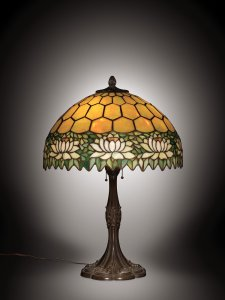 Lamp with Water Lily Shade