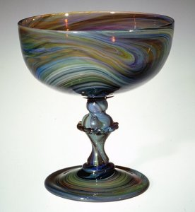 Marbled Wineglass or Dessert