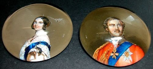 Pair of Paperweights, Victoria and Albert