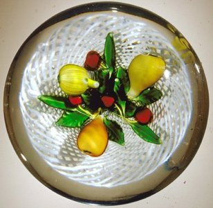 Paperweight with Fruit