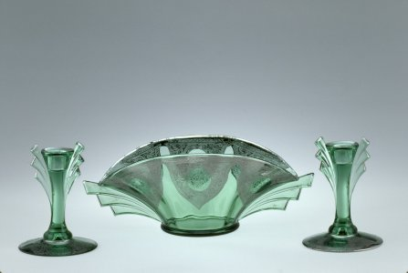 Bowl with Two Candlesticks