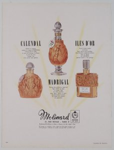 [Three perfumes by Molinard] [advertisement].