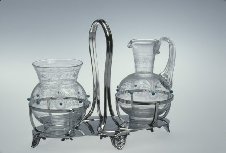 Cream Jug, Sugar Bowl and Frame