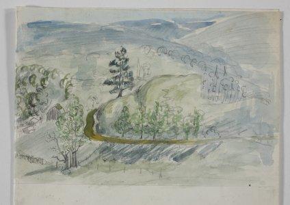 [Rural landscape] [art original].