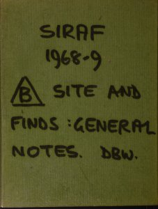 Siraf 1968-9, [triangle] B site and finds: general notes / DBW.