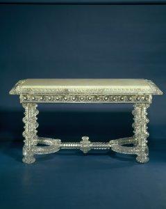 Large Rectangular Glass Table