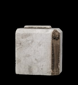 Plaster Model of Rectangular Vessel with Satyrs on Corners