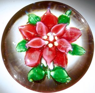 Paperweight with Poinsettia