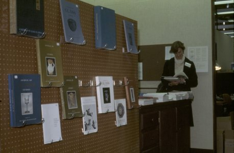 CMG Seminar, Oct. 6-8, 1977 [slide]: [wall display of books for sale].
