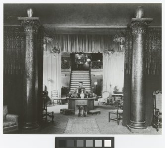 Interior showroom of the Tiffany Studios [photograph].