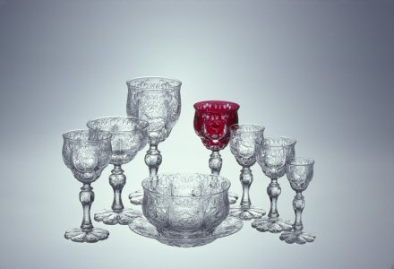 7 Glasses, Fingerbowl and Saucer