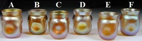Six Cubical-Shaped Cordial Glasses
