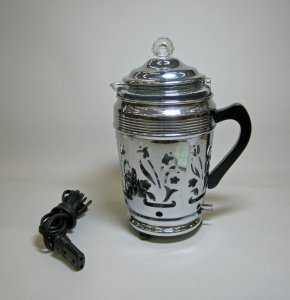 Pyrex Coffee Percolator with Metal Warmer