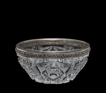 Bowl with Silver Rim