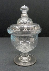 Bowl on Standard with Domed Cover