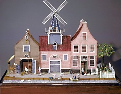 Diorama with Dutch Canal House