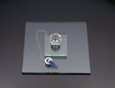 "Necklace with Suspended Ball and Cone for Picasso's ""Portrait of a Young Woman"""