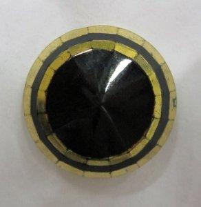 Black Gilt Button