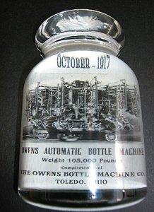 Owens Bottle Machine Paperweight