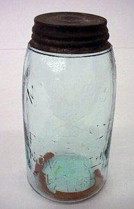 Preserving Jar, Sealing Ring and Cap