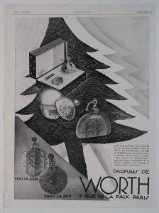 [Christmas ornament-like perfume bottles] [advertisement].