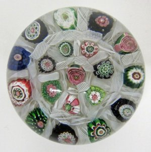 Paperweight with Spaced Concentric Millefiori
