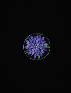 Paperweight with Purple Dahlia
