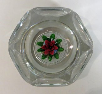 Paperweight with Floral Bouquet