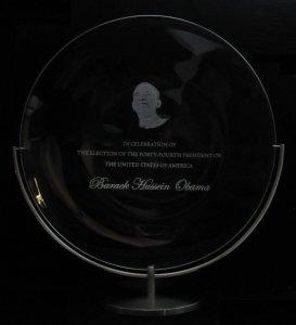 Presidential Commemorative Plate 2009: Barack Hussein Obama