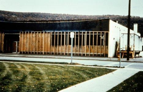 [Acme restoration building and freezer truck] [slide].