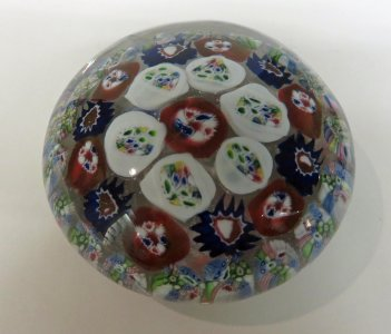 Paperweight with Millefiori Canes