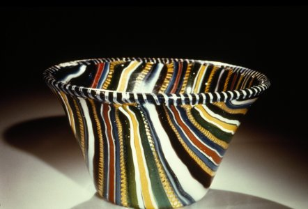 [Ancient Roman ribbon glass cup] [slide].