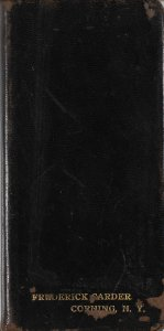 [Black pocket sized diary, 1921-1923].