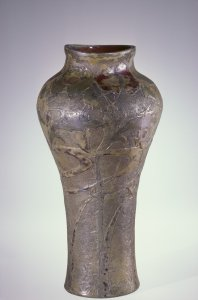 Vase with Abstract Floral Decoration