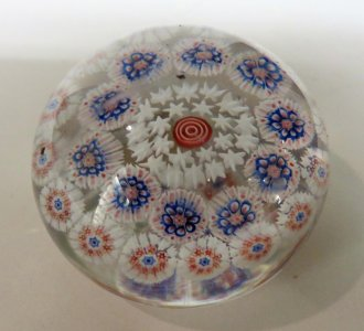 Paperweight with Star and Cane