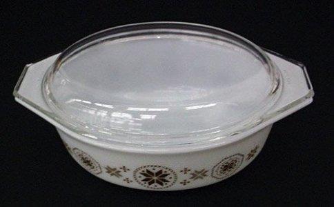 1-1/2 Quart Pyrex Casserole with Cover and Cradle