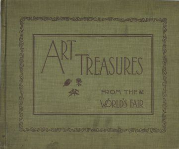 Art treasures from the World's fair; reproductions of the famous statuary that adorned the buildings, to which are added many of the famous paintings exhibited in the Art palace.