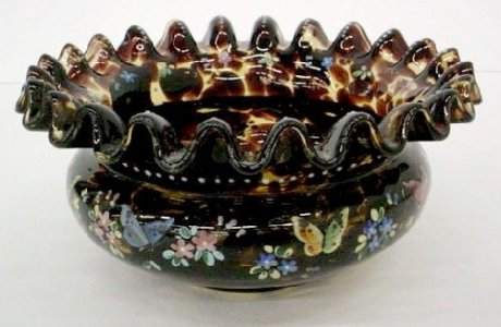 Tortoise Shell Bowl with Stand