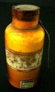 Specimen Bottle with White (?) Powder