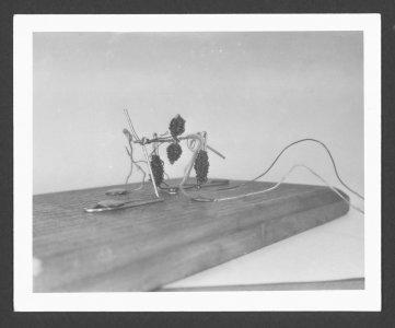 [Dominick Labino's paper clip motor] [picture].