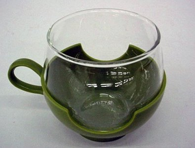 Pyrex Coffee Cup with Holder