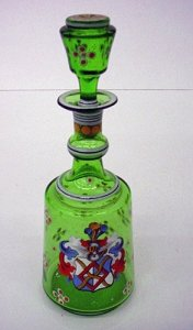 Armorial Decanter with Stopper
