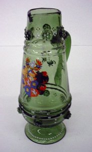 Armorial Pitcher with Sprays of Flowers