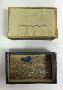 Matchbox Containing 54 Glass Parts of Marine Animals