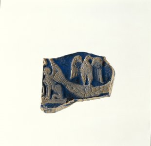 Fragment of Plaque with Sphinx and Eagle