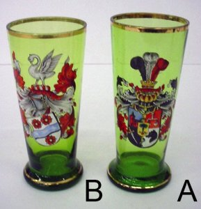 18 Armorial Humpens or Beer Glasses