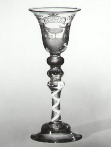 Goblet Engraved with Man and Woman