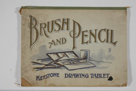 Brush and pencil Keystone drawing tablet.