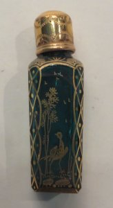 Miniature Scent Flask with Stopper
