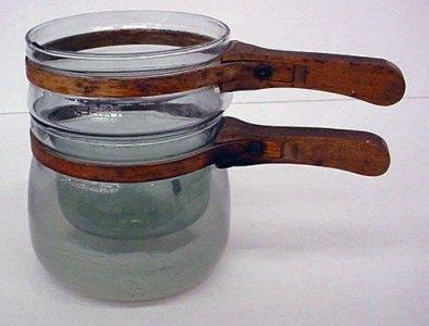 3-piece Pyrex Double-Boiler